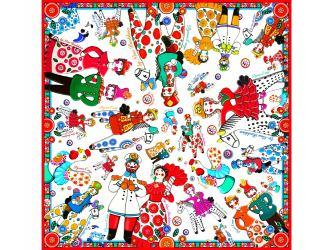 Платок Дымковская игрушка