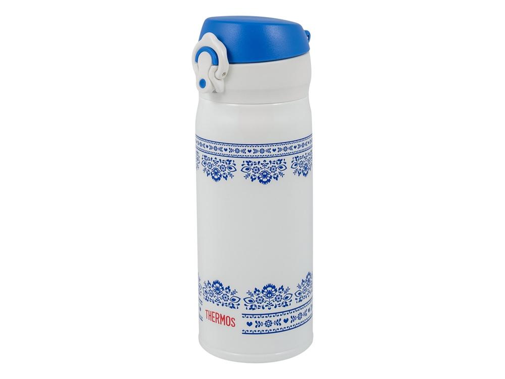 Термос из нерж. стали тм THERMOS JNL-402-BLWH SS V.Insulated Flask,400ml, бело-синий