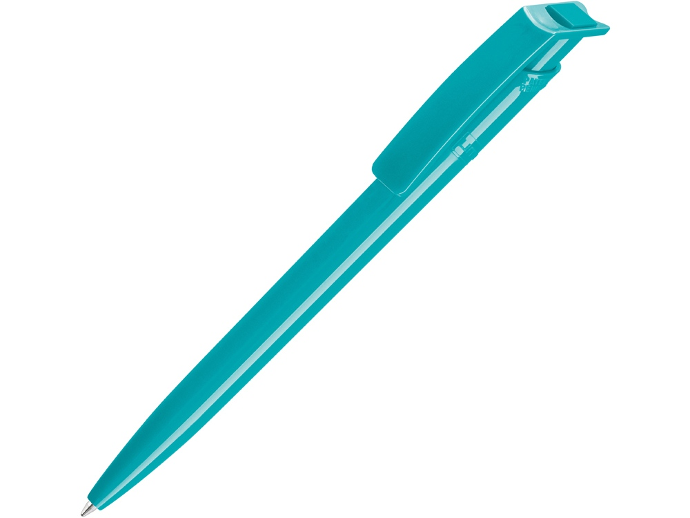 Ручка шариковая пластиковая RECYCLED PET PEN, синий, 1 мм, лазурный
