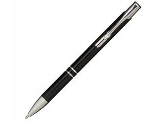 Алюминиевая шариковая кнопочная ручка Moneta, черный