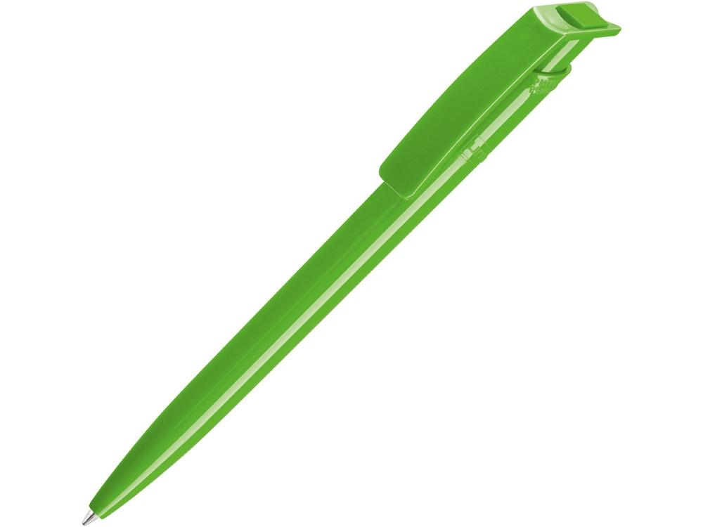 Ручка шариковая пластиковая RECYCLED PET PEN, синий, 1 мм, зеленое яблоко