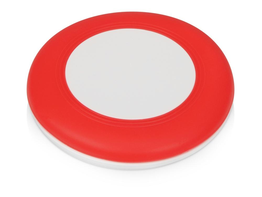 Беспроводное зарядное устройство со встроенным кабелем 2-в-1 Disc, красный