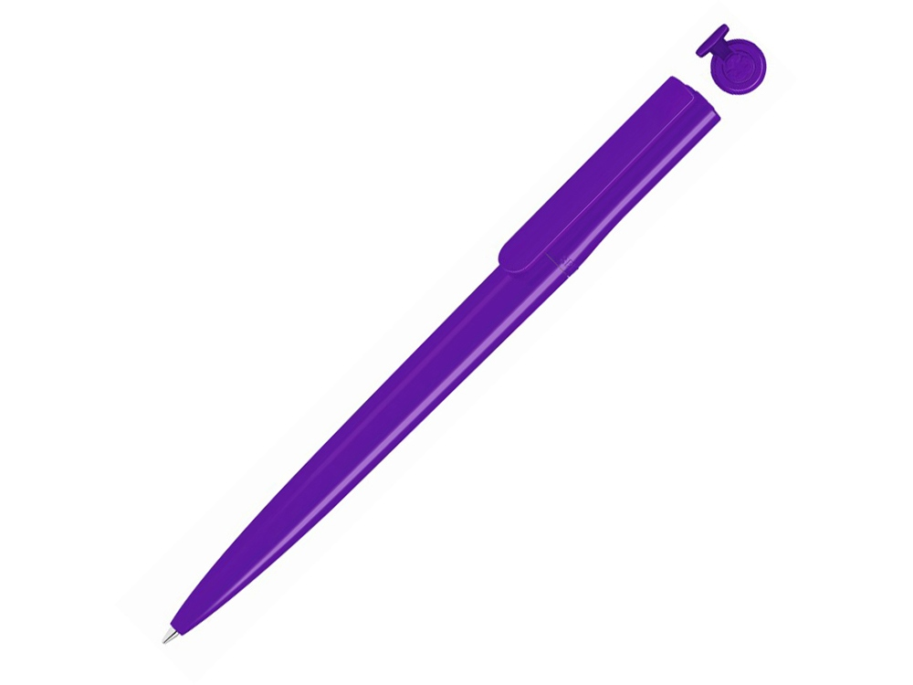 Ручка шариковая пластиковая RECYCLED PET PEN switch, синий, 1 мм, фиолетовый