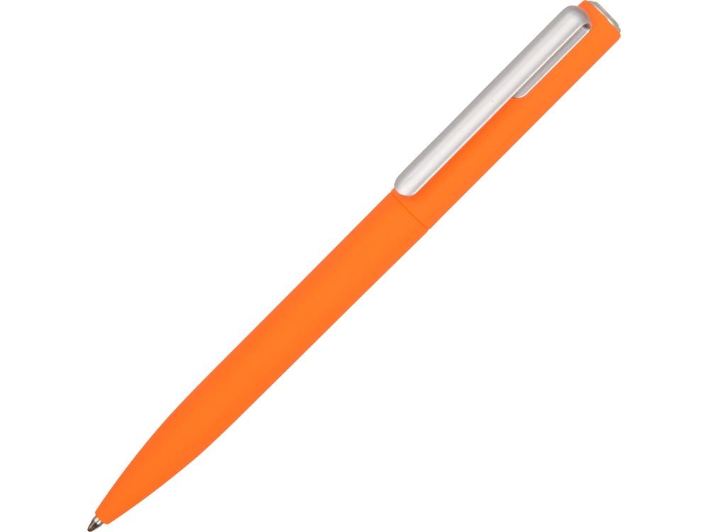 Ручка шариковая пластиковая Bon с покрытием soft touch, оранжевый