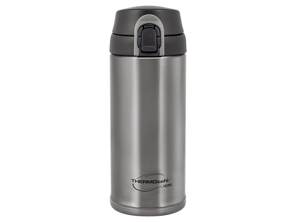 Термос из нерж. стали тм ThermoCafe TC-350T (Dark Grey), 0.35L, серый