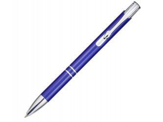 Алюминиевая шариковая кнопочная ручка Moneta, синий