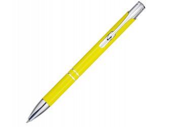 Алюминиевая шариковая кнопочная ручка Moneta, желтый