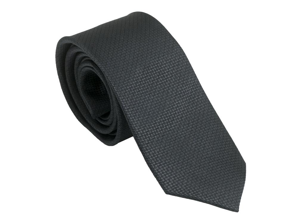 Шелковый галстук Uomo Dark Grey