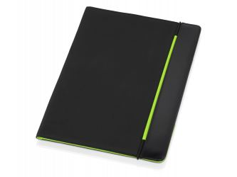 Папка для документов Делос, черный/зеленое яблоко