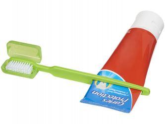 Зубная щетка Dana с выжимателем, зеленый