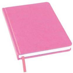 Ежедневник недатированный Bliss, А5,  розовый, белый блок, без обреза