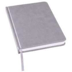 Ежедневник недатированный Bliss, А5,  серый, белый блок, без обреза