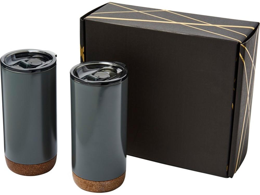Подарочный набор медных термокружок с вакуумной изоляцией Valhalla, серый