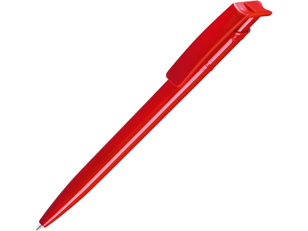 Ручка шариковая пластиковая RECYCLED PET PEN, синий, 1 мм, красный