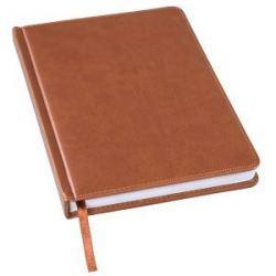 Ежедневник недатированный Bliss, А5,  коричневый, белый блок, без обреза