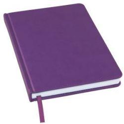 Ежедневник недатированный Bliss, А5,  фиолетовый, белый блок, без обреза
