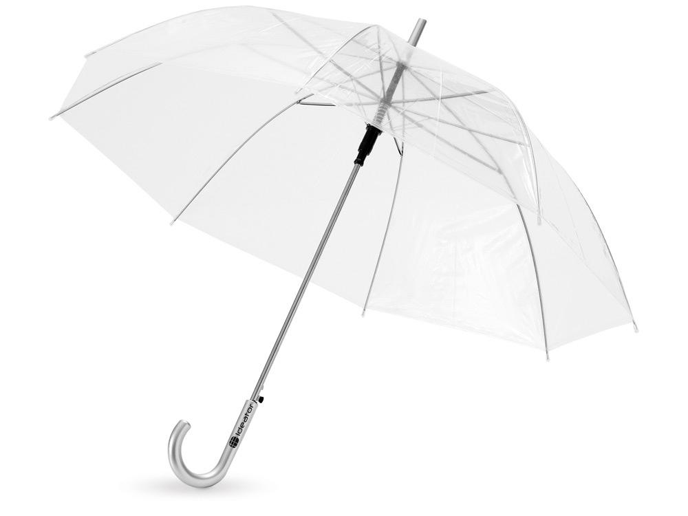 Зонт-трость Клауд полуавтоматический 23, прозрачный (Р)