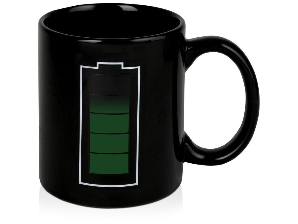 Кружка Зарядка, черный (Р)