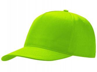 Бейсболка Poly 5-ти панельная, зеленое яблоко