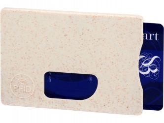 Чехол для карт RFID Straw, бежевый