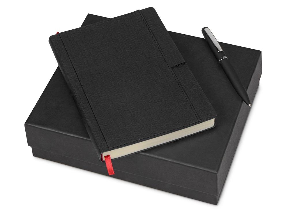 Подарочный набор Bruno Visconti Marseille-Saint-Just: ежедневник недати.А5, ручка шарик., черный