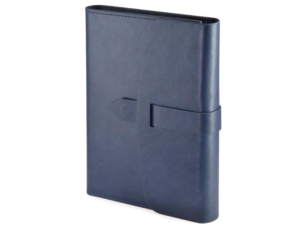 Ежедневник недатированный А5 Senate с магнитным клапаном, синий