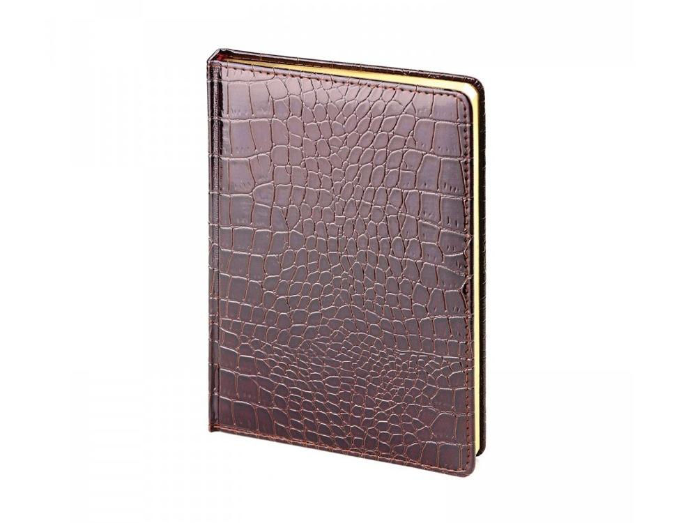 Ежедневник недатированный А5 CAIMAN, коричневый