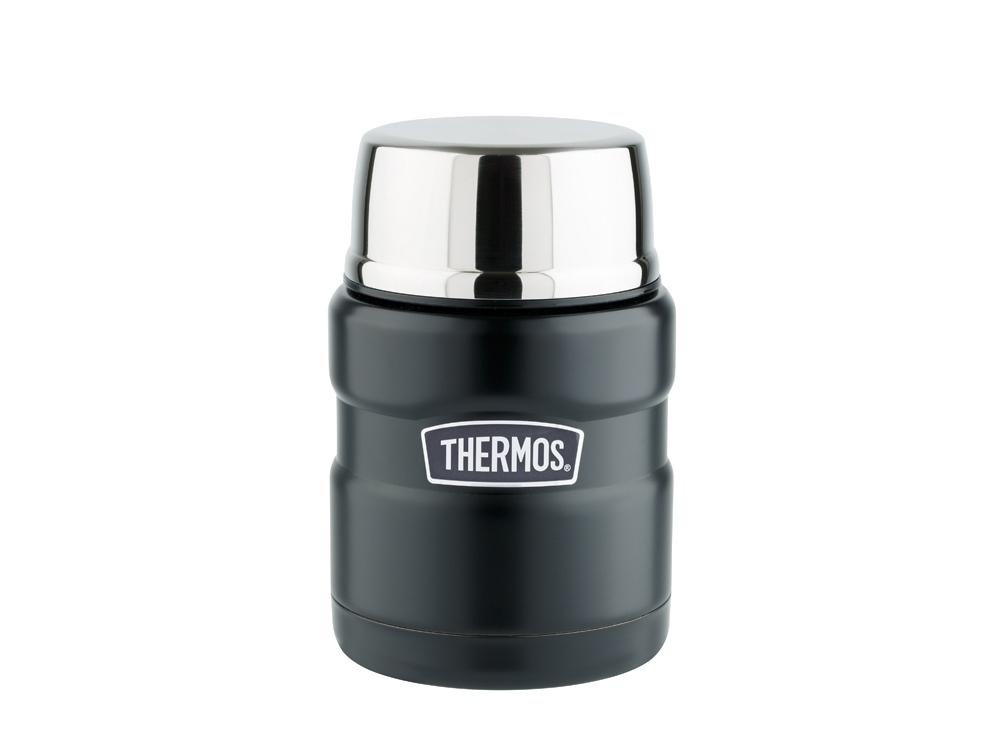 Термос из нерж. стали с ложкой тм THERMOS SK3000-BK(Matte Black) Food Jar 0.470L, черный