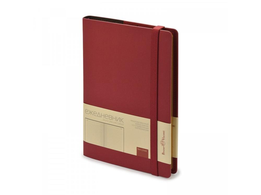 Ежедневник недатированный А5  Oxford, бордовый