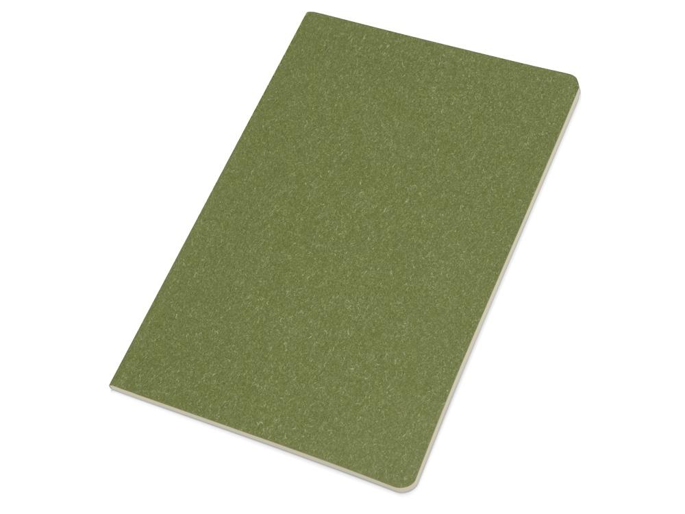 Блокнот А5 Snow из переработанного картона, зеленый