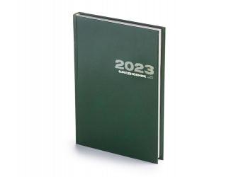 Ежедневник А5 датированный Бумвинил 2020, зеленый