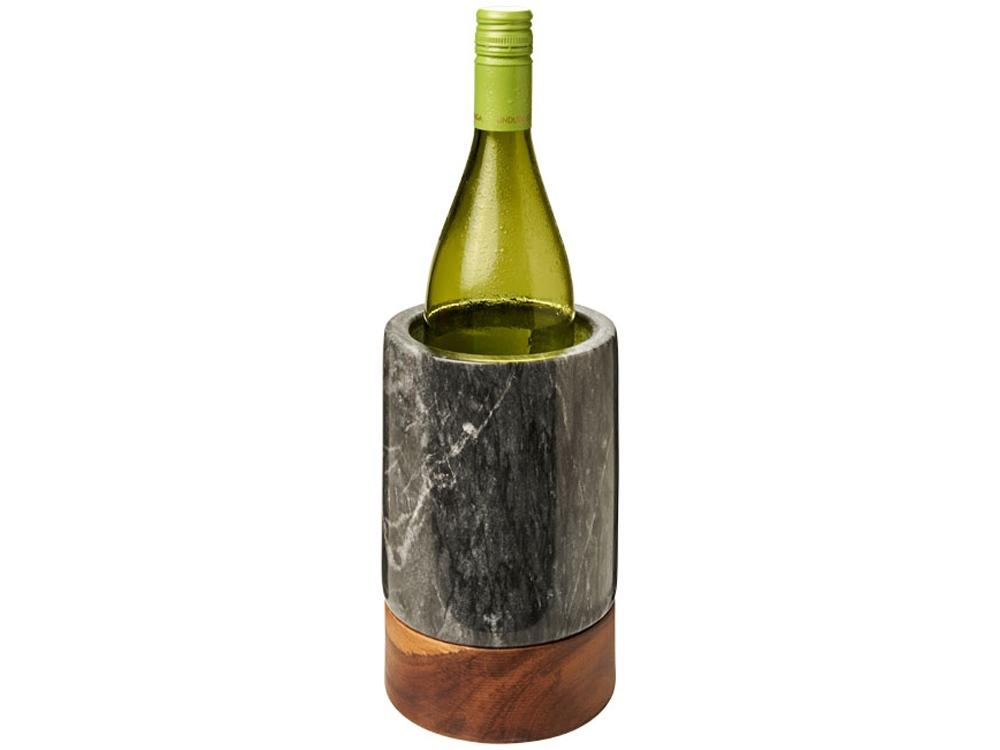 Охладитель для вина Harlow из мрамора и древесины, дерево,серый
