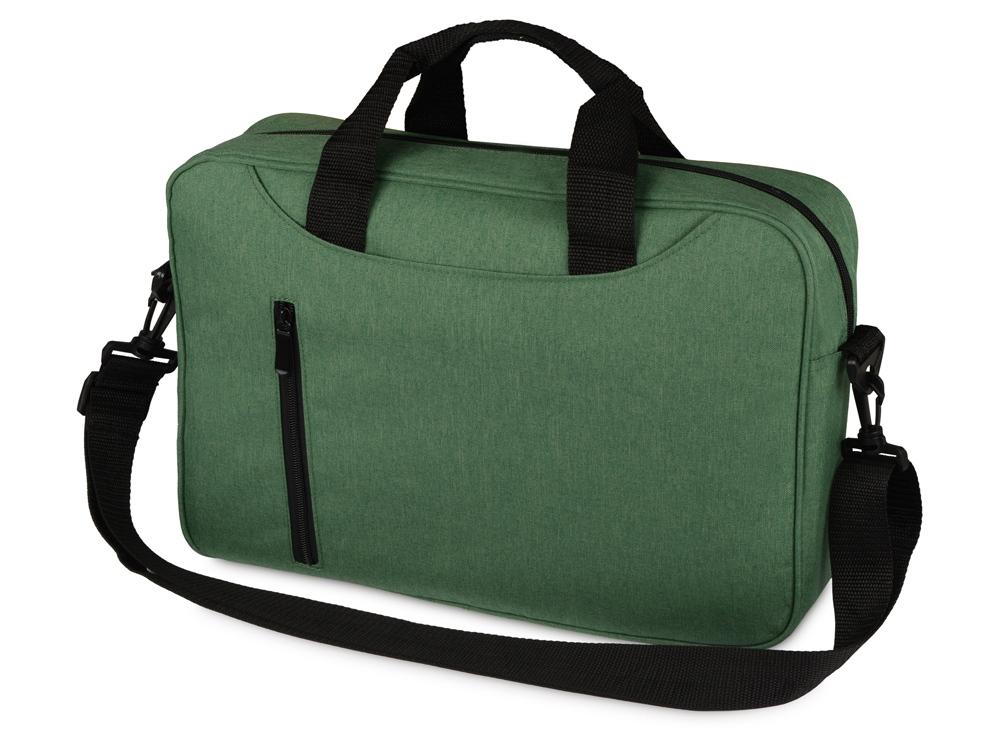 Сумка для ноутбука Wing с вертикальным наружным карманом, зеленое яблоко