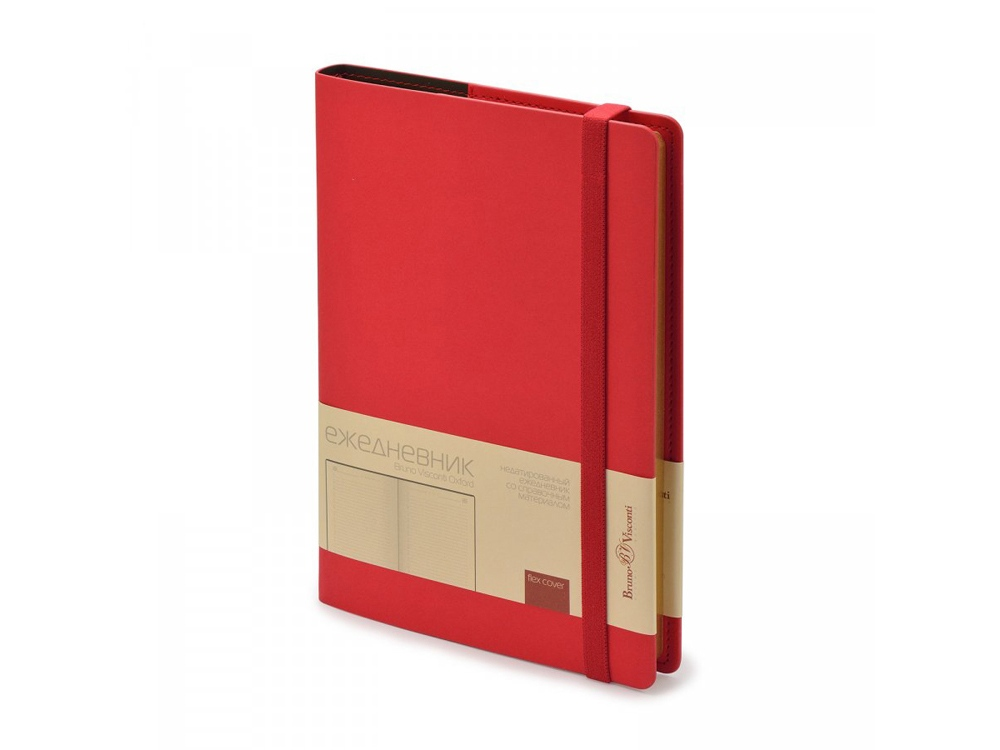 Ежедневник недатированный А5  Oxford, красный