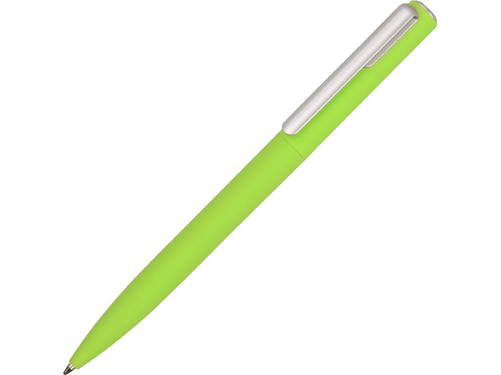 Ручка шариковая пластиковая Bon с покрытием soft touch, зеленое яблоко