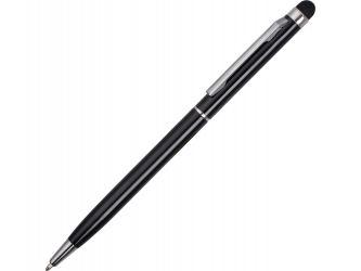 Ручка-стилус металлическая шариковая Jucy черный