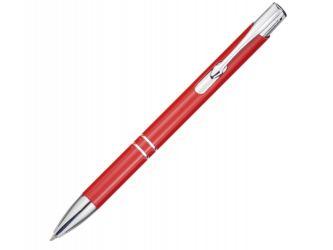 Алюминиевая шариковая кнопочная ручка Moneta, красный