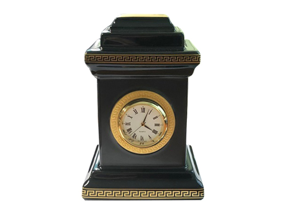 Настольные часы Medusa, фарфор, позолота