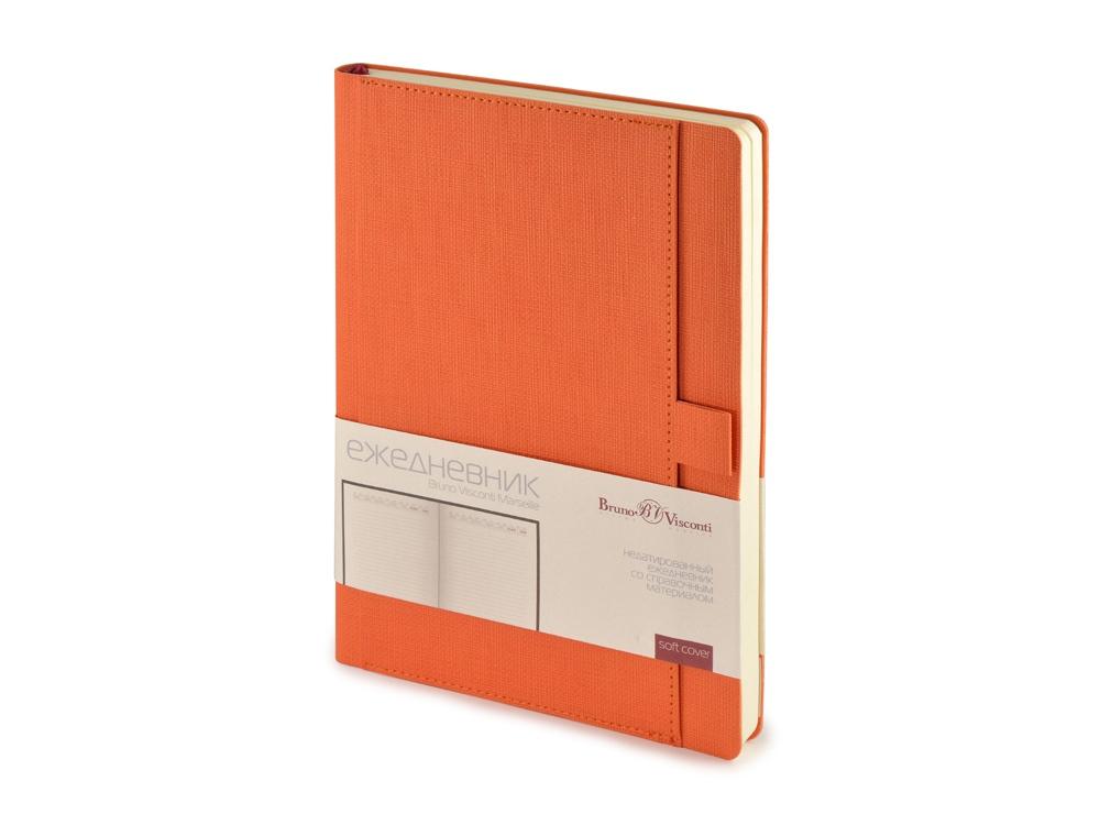 Ежедневник недатированный А5 Marseille, оранжевый