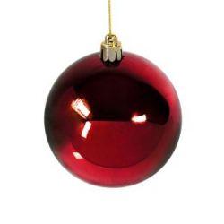Шар новогодний Gloss, диаметр 8 см., пластик, красный