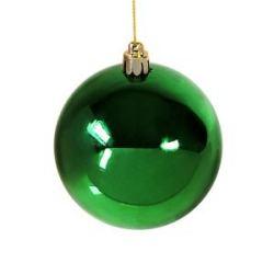 Шар новогодний Gloss, диаметр 8 см., пластик, зеленый