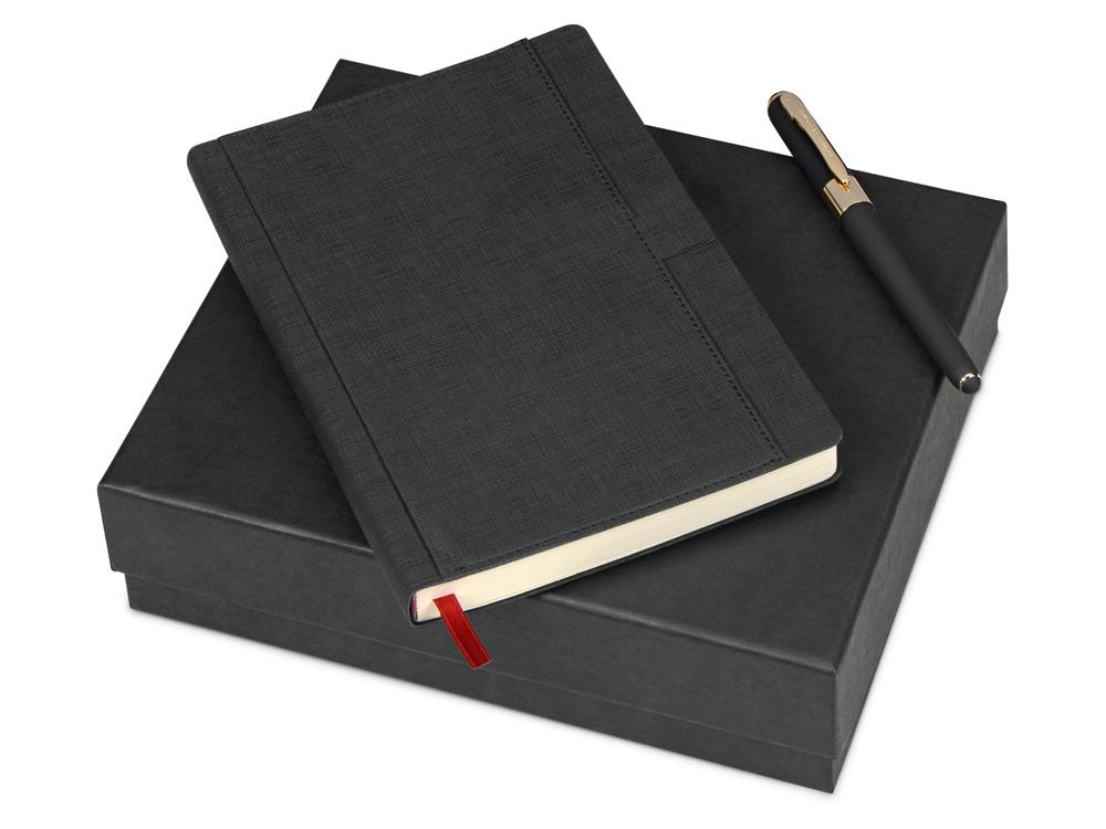 Подарочный набор Bruno Visconti Marseille: ежедневник недатирован А5, ручка шариковая, черный