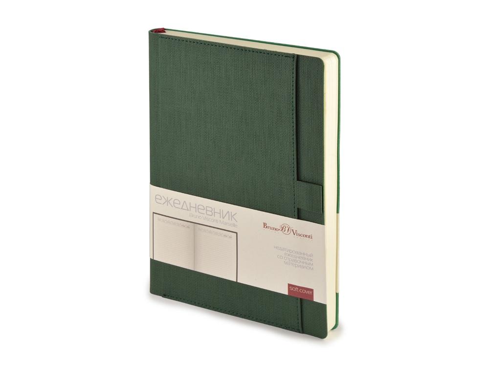 Ежедневник недатированный А5 Marseille, зеленый