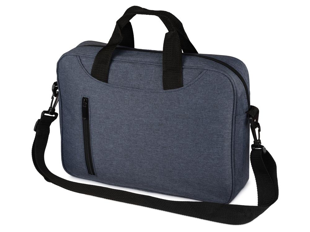 Сумка для ноутбука Wing с вертикальным наружным карманом, синий
