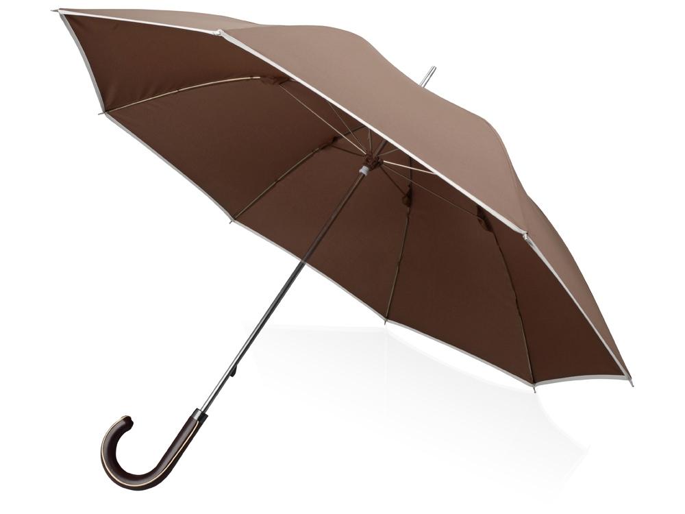 Зонт-трость Ривер, механический 23, коричневый (Р)