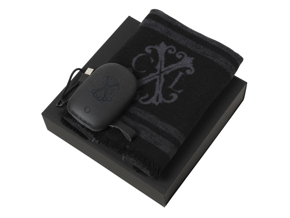 Подарочный набор Id: шарф шелковый, портативное зарядное устройство 7800 mAh. Christian Lacroix