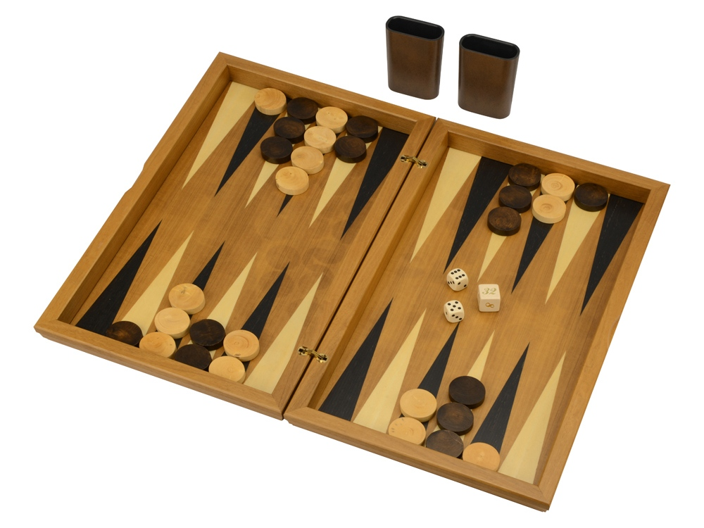 Нарды в деревянной коробке