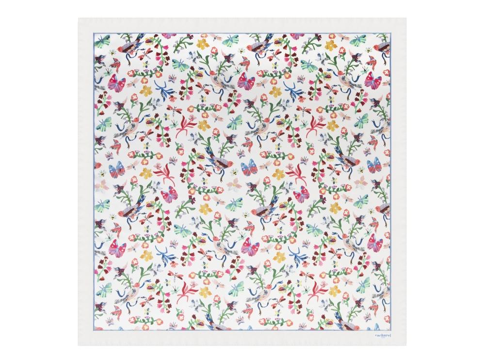 Шелковый платок Butterfly White