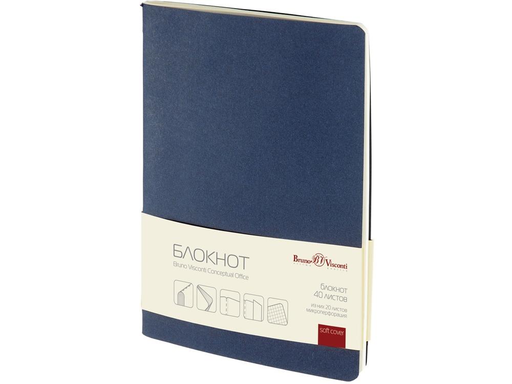 Бизнес – блокнот А5 (128 х 210 мм.) Conceptual Office 40 л., синий