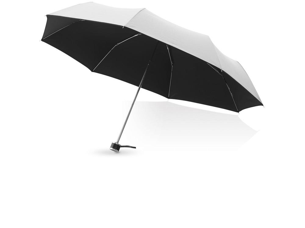 Зонт складной Линц, механический 21, серебристый (Р)
